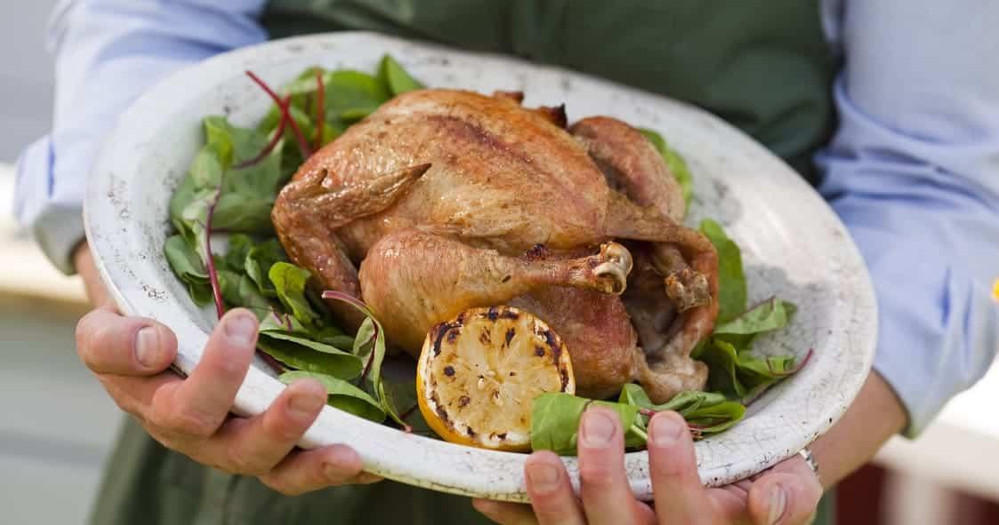 Lägg din kyckling på grillen