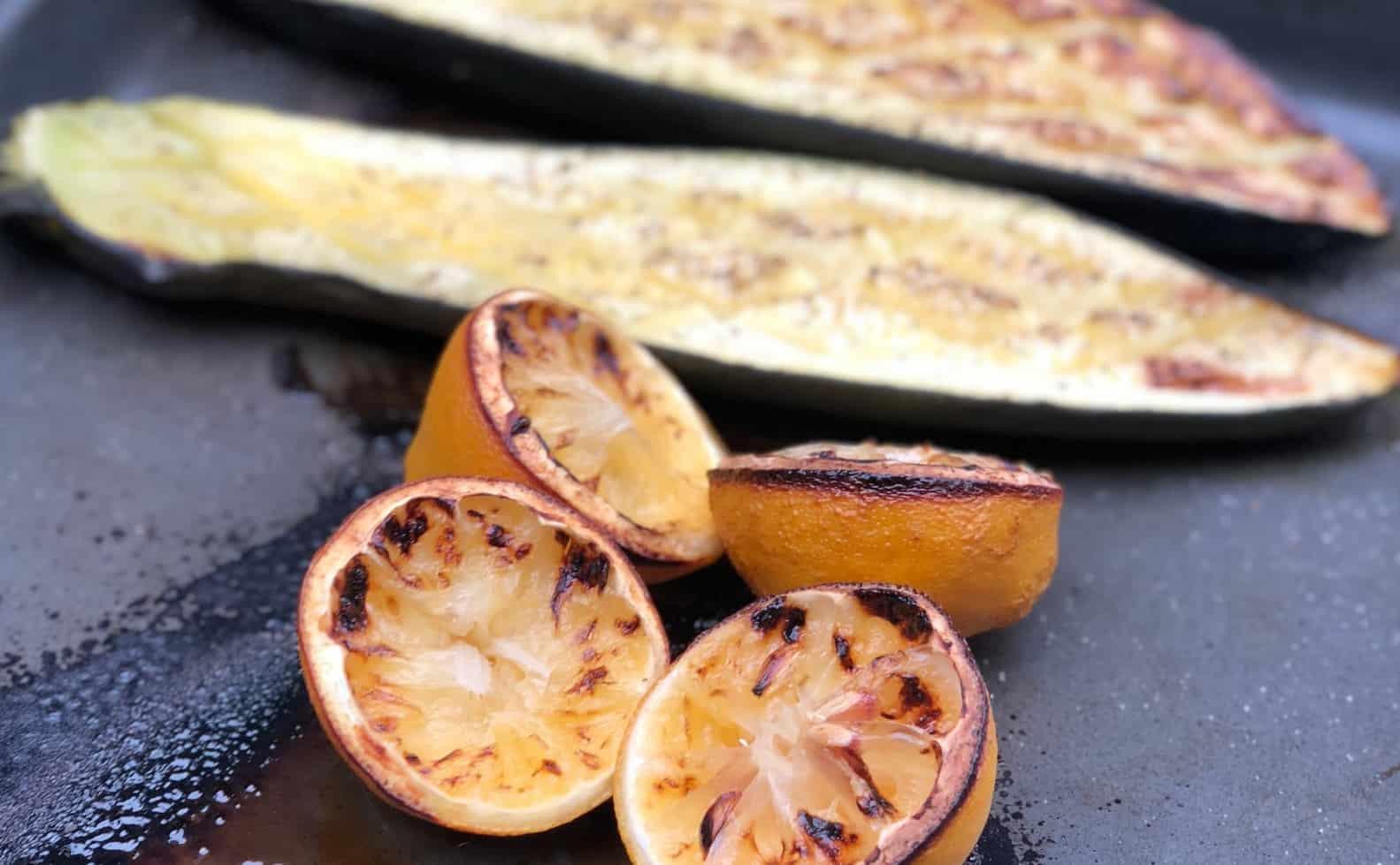Grillad citron och zucchini ur Matkomforts matkasse
