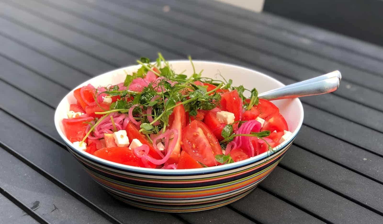 Tomatsallad snabb och enkel